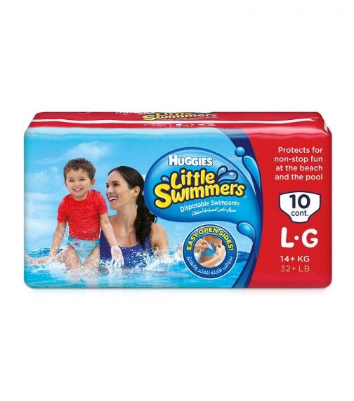 HUGGIES Little Swimmer, Swim Pants Diaper, Large, 10Pants