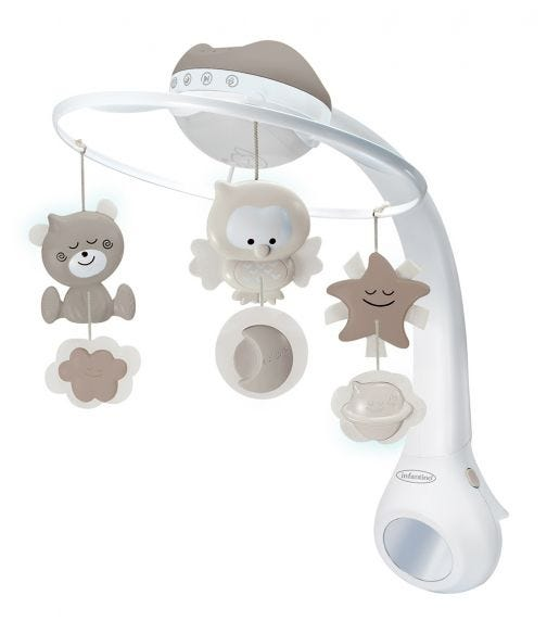 INFANTINO 3 In 1 Projector Musical Mobile Ecru