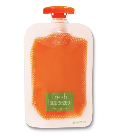 INFANTINO 50 Pack Squeeze Pouches 50 Caps