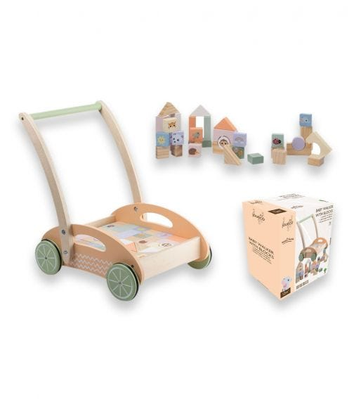 JOUECO The Wildies Family Baby Walker With Blocks