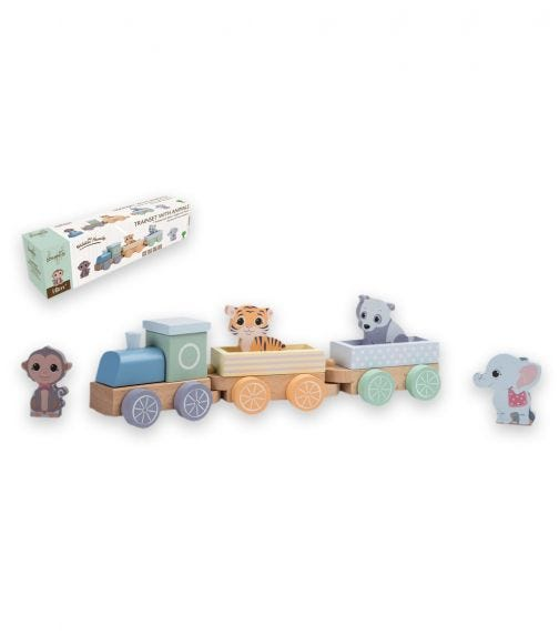 JOUECO The Wildies Family Trainset With Animals