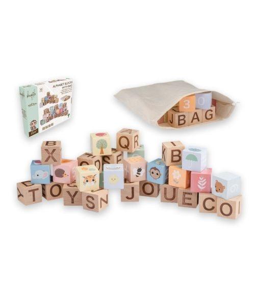JOUECO The Wildies Family Alphabet Block With Bag
