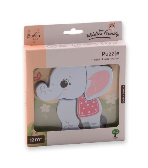 JOUECO The Wildies Family Puzzle 4 Assorted
