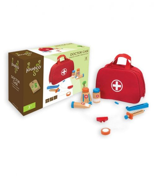 JOUECO Doctor Case With Accessories (8 Pieces)