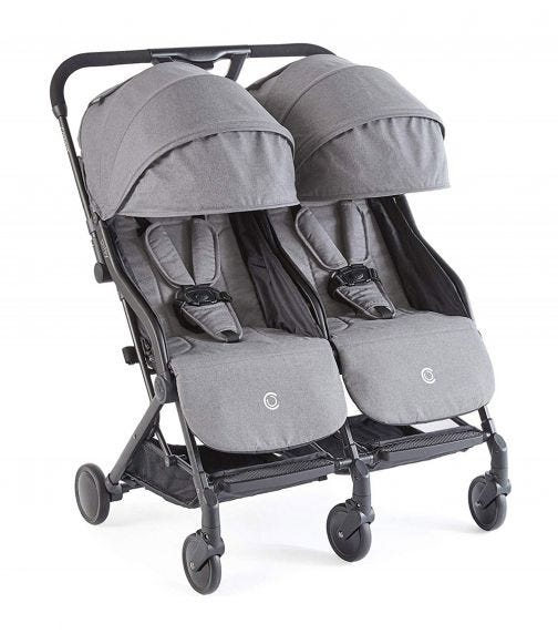 KOLCRAFT  Contours Bitsy Compact Double Stroller Midnight