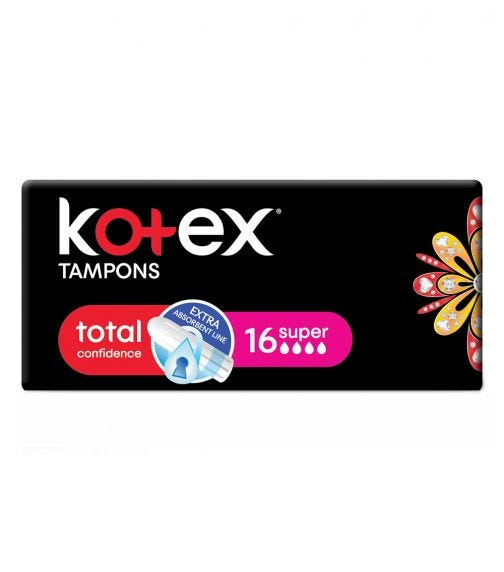KOTEX Mini Silky Cover Tampons - 16 Pieces