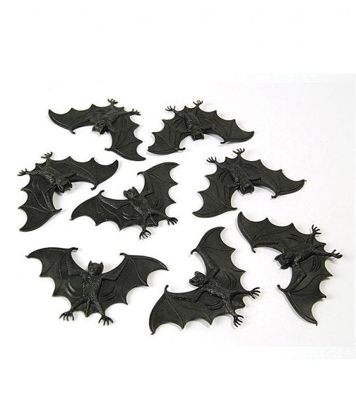 Rubies Scary Creatures - Bats (8 Pieces)