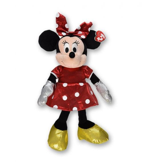 TY Disney Minnie Red Sparkle (Medium)
