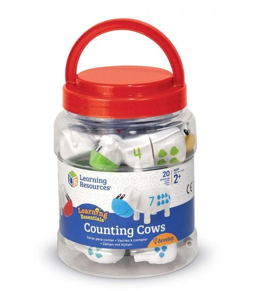 LEARNING RESOURCES Counting Cows Toy Set Math Games