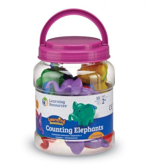 LEARNING RESOURCES Counting Elephants - Set Of 10