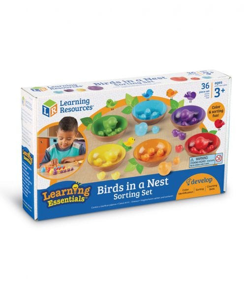 LEARNING RESOURCES Birds In A Nest Sorting Set 36 Pieces