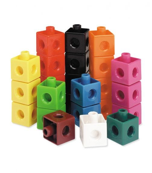 LEARNING RESOURCES Snap Cubes Homeschool Educational Counting Toy