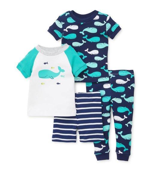 LITTLE ME Whale 4 Piece Pajama