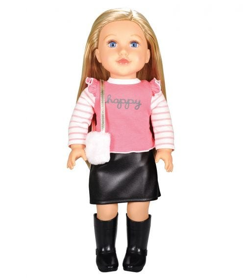 """LOTUS 18""""45Cm Soft Bodied Poseable Girl Doll Serena"""