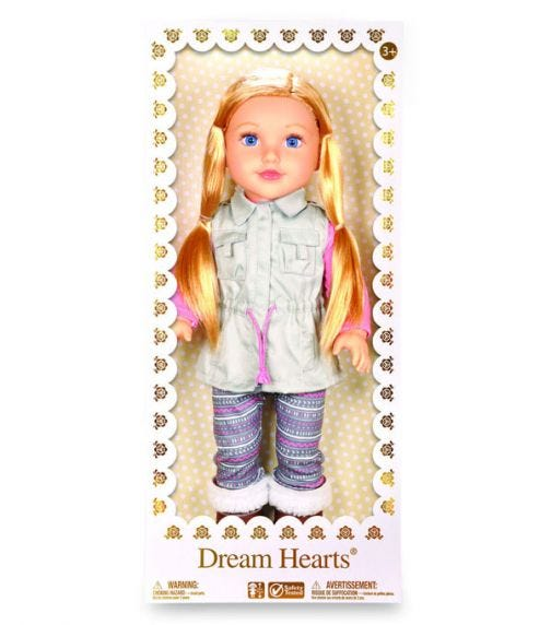 """LOTUS 18""""45Cm Soft Bodied Poseable Girl Doll Lilybeth"""
