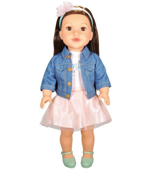 """LOTUS 18""""45Cm Soft Bodied Poseable Girl Doll Paige"""