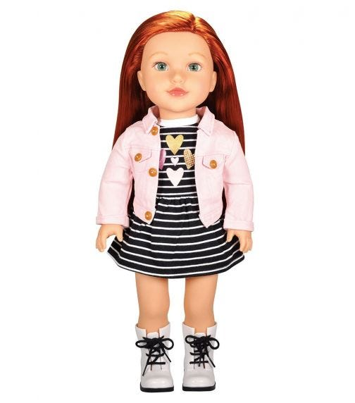 """LOTUS 18""""45Cm Soft Bodied Poseable Girl Doll Brinley"""