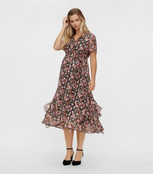 MAMALICIOUS Francine S/S Woven Midi Dress