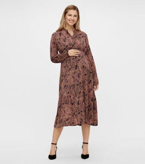 MAMALICIOUS Dee Ls Woven Midi Dress