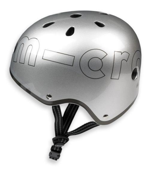 MICRO Helmet Metallic Silver - M