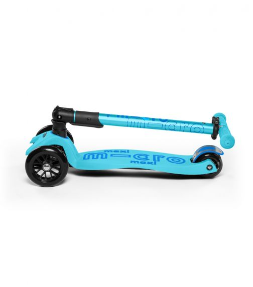MICRO Maxi Micro Deluxe Foldable Bright Blue Tbar Scooter