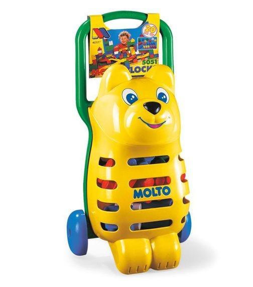 MOLTO Trolley Bear Blocks 15 Pieces