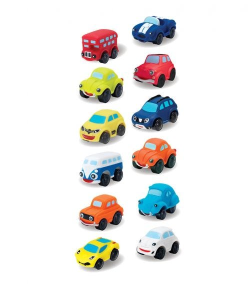 MOTOR TOWN 4 Different Soft Touch Cars (4 In 1) - 113363