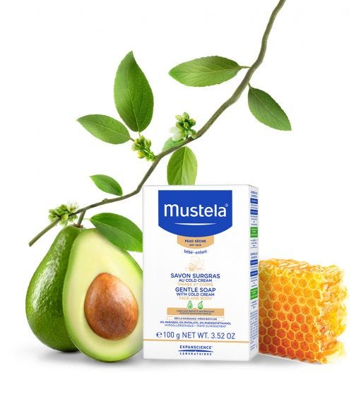 MUSTELA - Gentle Soap With Cold Cream Face And Body 100G