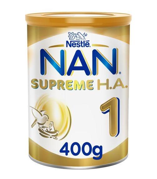 NESTLE Nan Supreme H.A. Stage 1 (0-6 Months) Hypoallergenic Starter Infant Formula - 400 G