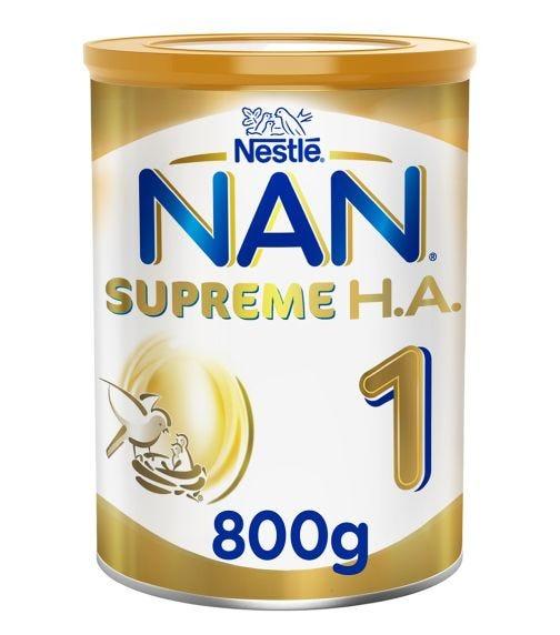 NESTLE Nan Supreme H.A. Stage 1 (0-6 Months) Hypoallergenic Starter Infant Formula - 800 G