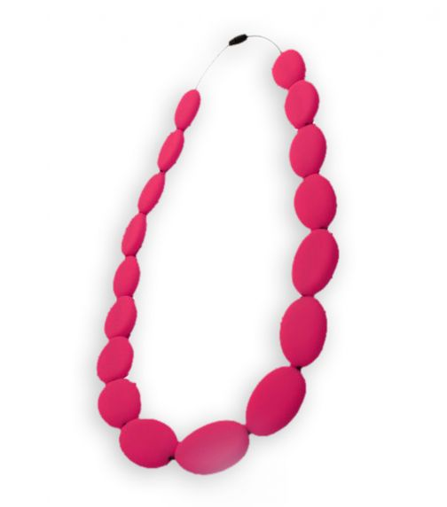 NIBBLY BITS Flat Bead Necklace Scarlet Red