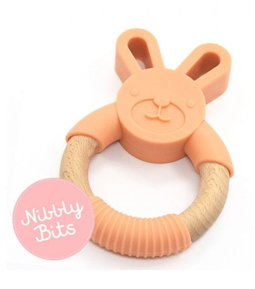 NIBBLY BITS Bunny Teether - Apricot