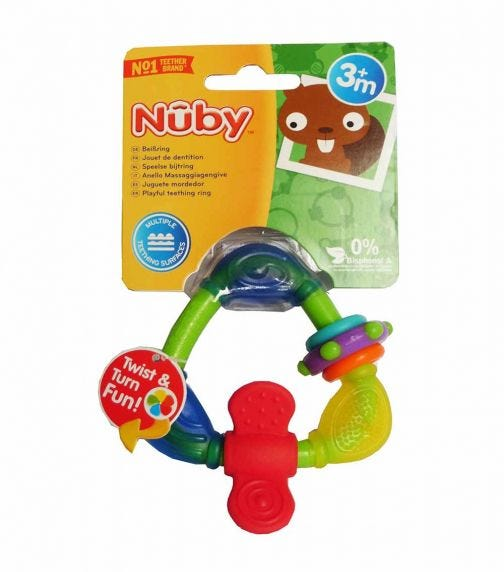 NUBY Hard-soft Triangle Teether