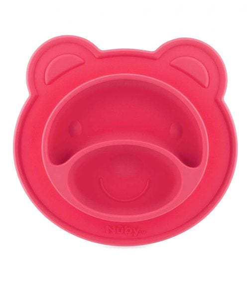 NUBY Miracle Suction Plate Bear 3 Pieces