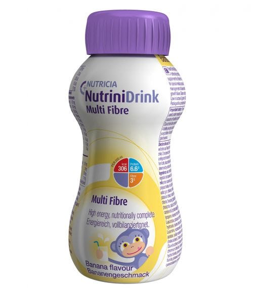 NUTRINI Drink Multi Fiber Liquid Banana, 200 ML
