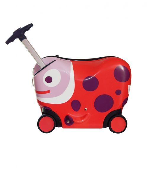 OPPS TROLLEY New Ride-On Trolley Case Ladybug (2-4 Years)