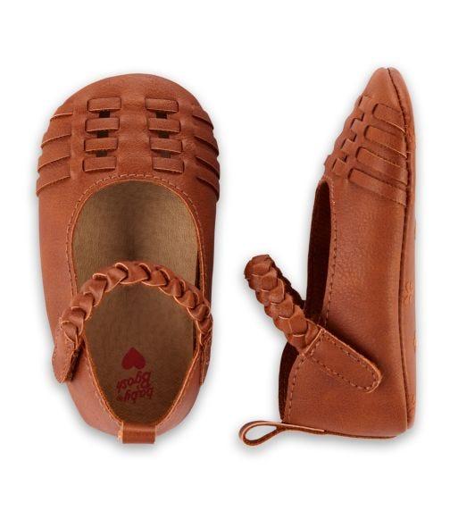 OSHKOSH Brown Sandal Crib Shoes
