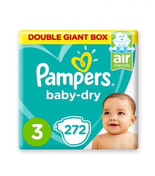 PAMPERS Baby-Dry Diapers, Size 3, Midi