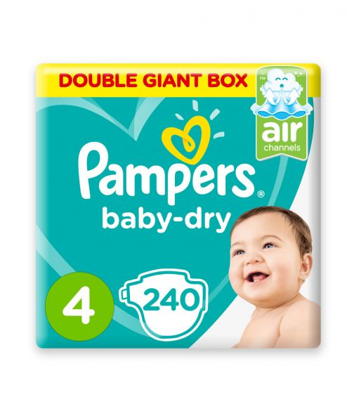 PAMPERS Baby-Dry Diapers, Size 4, Maxi