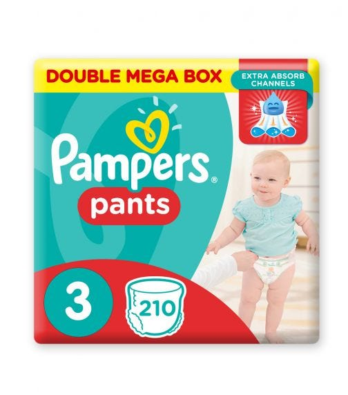 PAMPERS Pants Diapers, Size 3, Midi