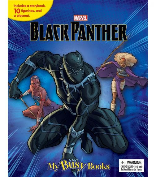 PHIDAL Marvel Black Panther My Busy Books