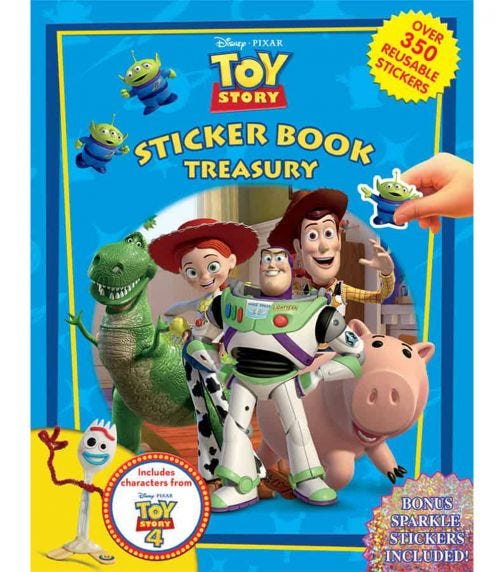 PHIDAL Disney Toy Story 4 Sticker Book Treasury