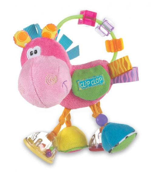PLAYGRO Toy Box Clopette Activity Rattle Pink (BD)