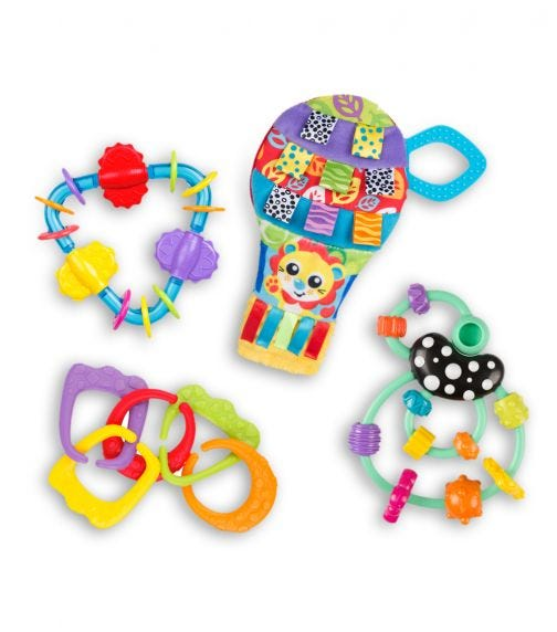 PLAYGRO  Squeak Up And Away Teething Gift Pack