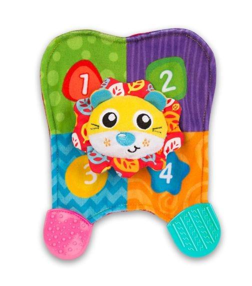 PLAYGRO  Squeak Lion Teething Blankie