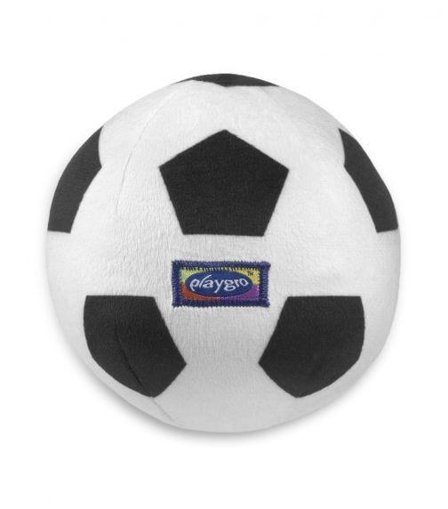 PLAYGRO My First Soccer Ball (Black And White