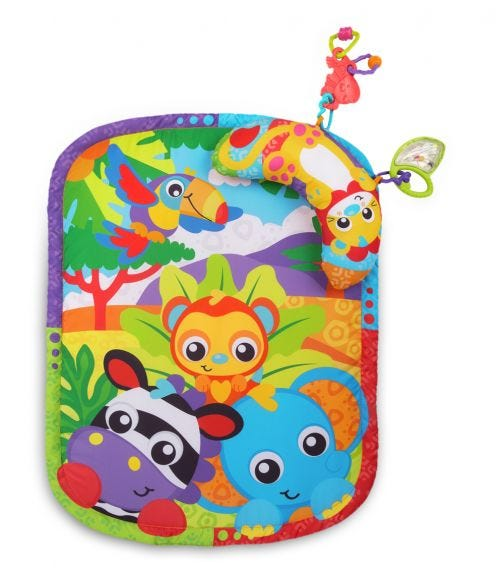 PLAYGRO Zoo Play Timetummy Time Mat & Pillow