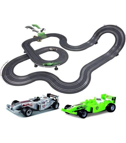 POLISTIL 1:43 Scale Formula Racing Auto Pilot Slot Car Set
