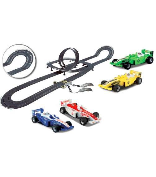 POLISTIL 1:43 Scale Formula Racing Slot Car Yellow