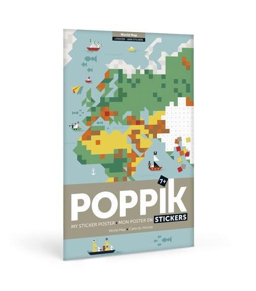 POPPIK Sticker Poster World Map